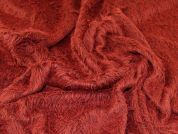 Lady McElroy Soft Faux Fur Fabric  Dark Red