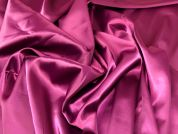 Lady McElroy Stretch Satin Fabric  Mulberry