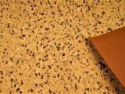 Cork Leather Fabric  Tan