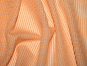 English Wool & Lurex Textured Dress Fabric  Orange & Cream