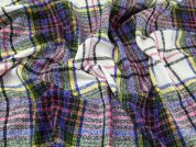 English 100% Wool Large Plaid Check Coat Weight Dress Fabric  Multicoloured