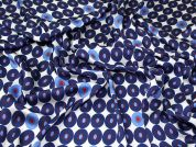 Silky Satin Fabric  Blue