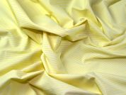 Italian Woven Pinstripe Cotton Shirting Dress Fabric  Yellow
