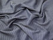 Italian Textured Weave Polyester Dress Fabric  Denim Blue