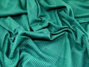 Textured Spotty Design Soft Brocade Dress Fabric  Green