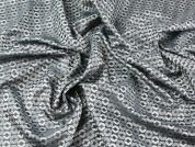 Spotty Design Jacquard Lining Fabric  Silver