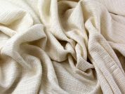 Italian Textured Woven Suiting Dress Fabric  Ivory