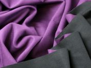 Reversible Triple Layered Stretch Jersey Dress Fabric  Plum & Black