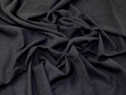 Italian 100% Wool Crepe Suiting Dress Fabric  Dark Grey