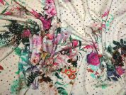 Italian Floral Print Stretch Jersey Knit Dress Fabric  Multicoloured