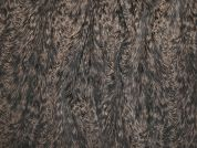 Abstract Pattern Stretch Suiting Dress Fabric  Black & Taupe