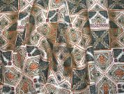 Patterned 100% Linen Italian Dress Fabric  Multicoloured