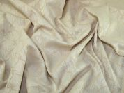 Woven Polycotton Brocade Dress Fabric  Cream