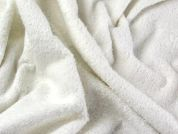 Single Sided Cotton Towelling Fabric  White