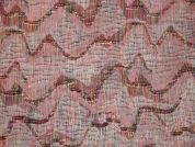 Textured Woven Jacquard Dress Fabric  Pink Multi