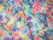 Floral Corded Jacquard Dress Fabric  Multicoloured