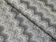 Knit Print Faux Leather Fabric  Grey