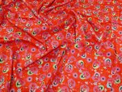 100% Cotton Fabric  Red