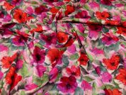 Cotton Canvas Fabric  Pink