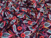 Floral Print Peachskin Dress Fabric  Multicoloured