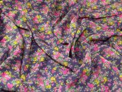 Pretty Florals Print Microfibre Dress Fabric  Multicoloured