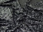 Metallic Finish Swirl Texture Luxury Fur Dress Fabric  Platinum