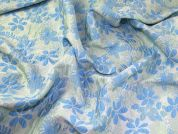 Floral Woven Bubble Texture Brocade Dress Fabric