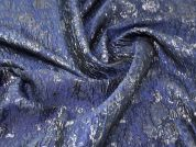 Lurex Brocade Fabric  Deep Blue