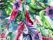 Floral Print Lightweight Viscose Crepe Dress Fabric  Multicoloured