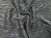 Metallic Pleated Satin Dress Fabric  Silver