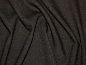 Poly Viscose Stretch Suiting Dress Fabric  Dark Grey Brown
