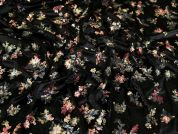 Sequin Velvet Knit Fabric  Black