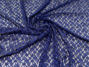 Stretch Sequin Lace Fabric  Navy