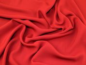 Herringbone Weave Polyester Crepe Dress Fabric  Red