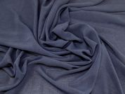 Crosshatch Weave Polyester Crepe Dress Fabric  Dusky Navy