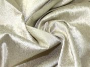 Lurex Brocade Fabric  Pale Gold