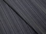 Italian 100% Virgin Wool Pinstripe Suiting Dress Fabric  Charcoal Grey