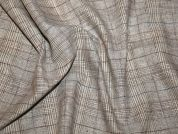 Plaid Check Cotton & Linen Blend Dress Fabric  Sand