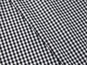 100% Cotton Monochrome Gingham Check Dress Fabric  Black & White