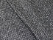 Wool & Silk Blend Suiting Dress Fabric  Granite Grey
