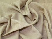 100% Pure Linen Fabric  Biscuit