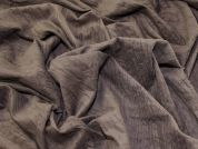 Crinkle Texture Cotton Needlecord Dress Fabric  Brown