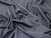 English Wool Plaid Weave Stretch Suiting Dress Fabric  Grey