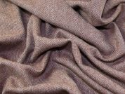 English 100% Wool Herringbone Suiting Dress Fabric  Rust