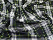 English 100% Wool Plaid Tartan Weave Suiting Dress Fabric  Multicoloured