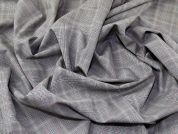 English 100% Wool Plaid Weave Suiting Dress Fabric  Grey & Coral
