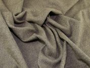 English Wool & Linen Herringbone Suiting Dress Fabric  Sage