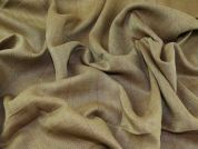 English 100% Linen Herringbone Weave Suiting Dress Fabric  Gold