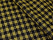 English Check Weave Pure Wool Coating Fabric  Chartreuse