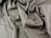 English Herringbone Wool Heavy Suiting Dress Fabric  Truffle